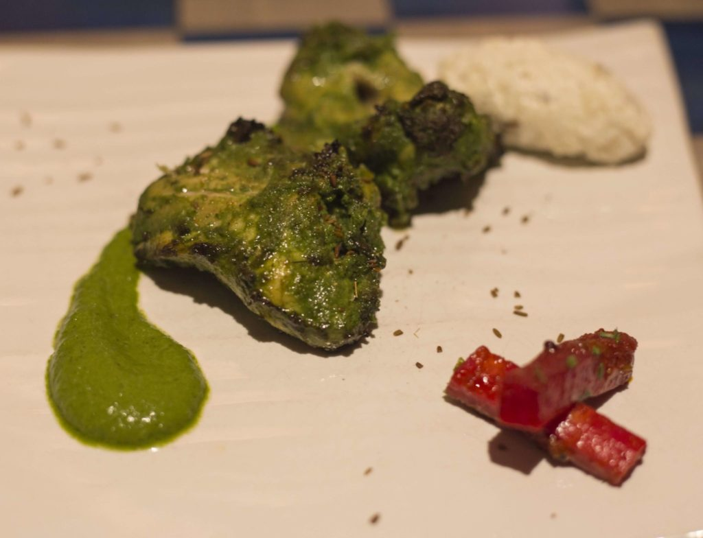 Tulsi Chicken Tikka , sweet basil, pickled radish & raita Jamavar london fine dining indian Magazine june 2017_10-min