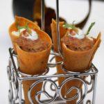 duck khurchan cornetto, herb yoghurt, chilli chutney-min