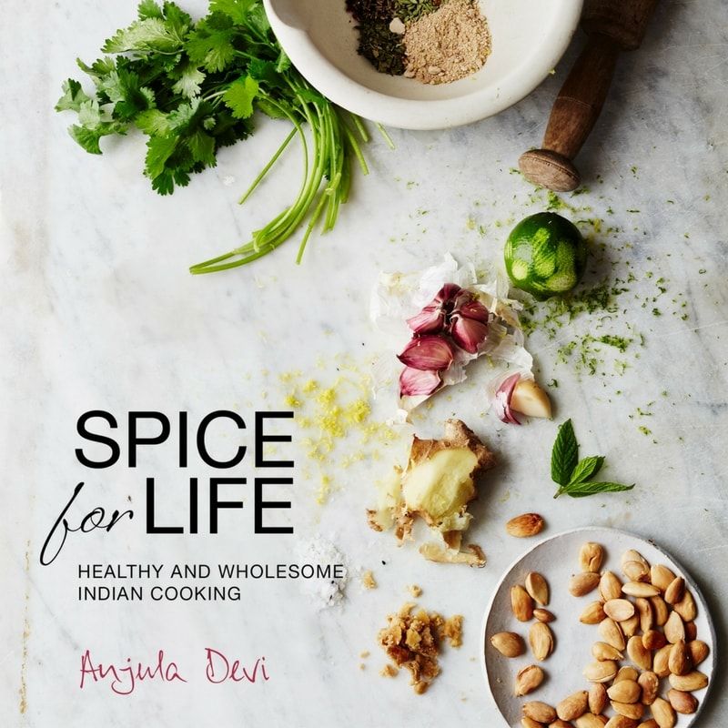 cook book spice for life Anjula Devi Food consultant writer interview