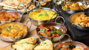 food in Indian style
