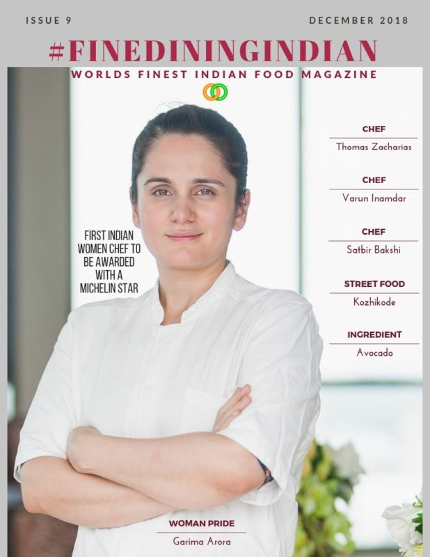 Fine dining Indian magazine 2018 December Issue